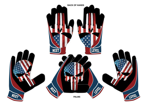 Picture of Punisher custom football Gloves